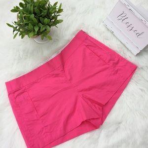 J. Crew Pink Side Zip Chino Shorts Size 4